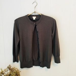 "J. Crew ""The Clare Cardigan"" grey/taupe! Like new!"